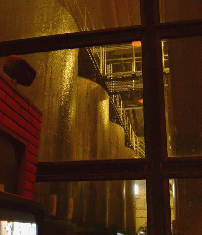 ワインが眠る地下倉庫