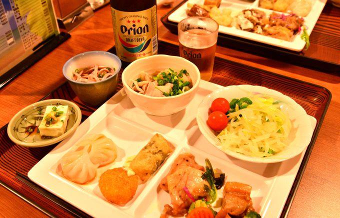 おいしい沖縄料理に舌つづみ