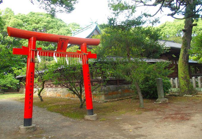 城跡に建つ神社