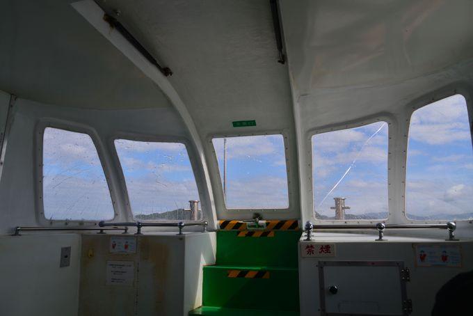 様々な外観も楽しい青海島観光クルーズ船