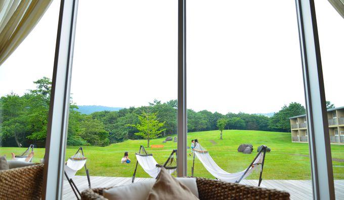 高原リゾートを楽しめるホテル設備