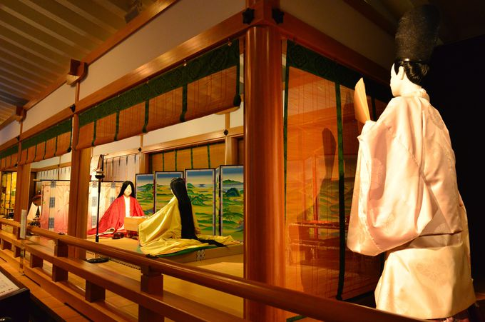 夕方:2018年秋にリニューアルした「源氏物語ミュージアム」