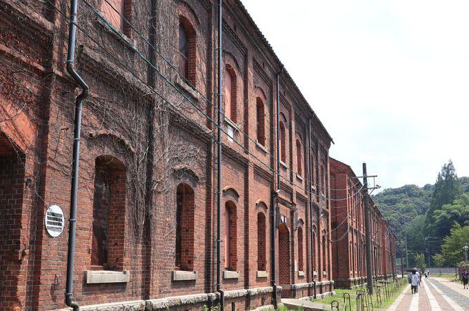 100年以上前に旧海軍が作った倉庫群