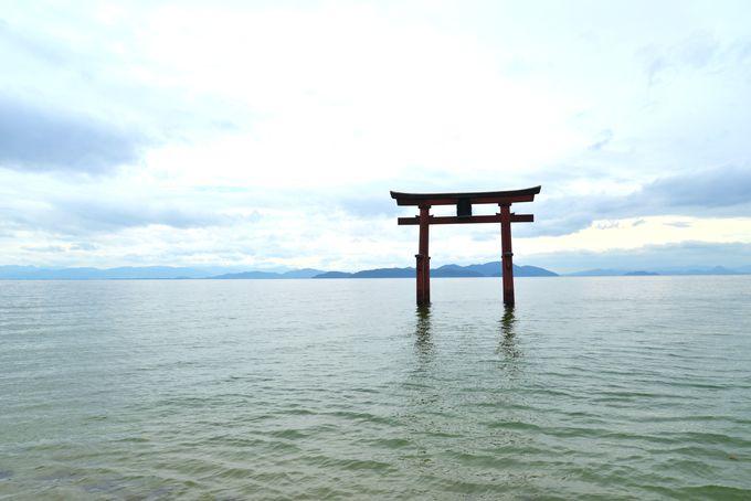SNS映えの景色が望める琵琶湖西岸