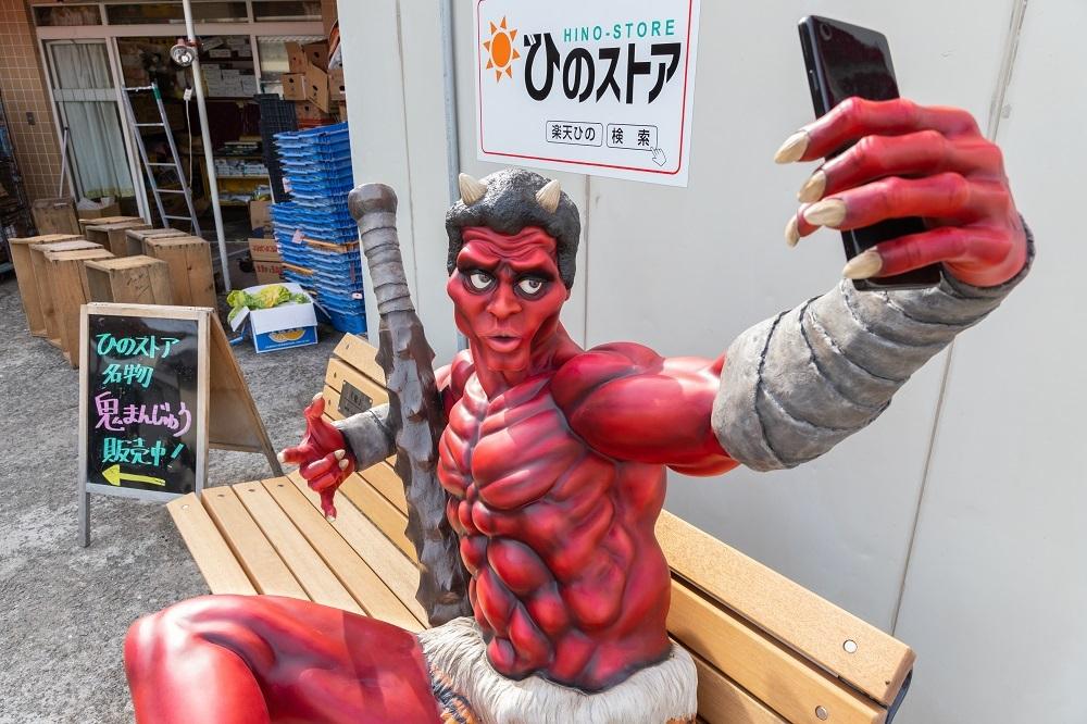 赤鬼とツーショット!妖怪の町 兵庫県福崎町で楽しむ町散歩