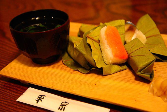 「柿の葉寿司」は昼食でも夕食でも