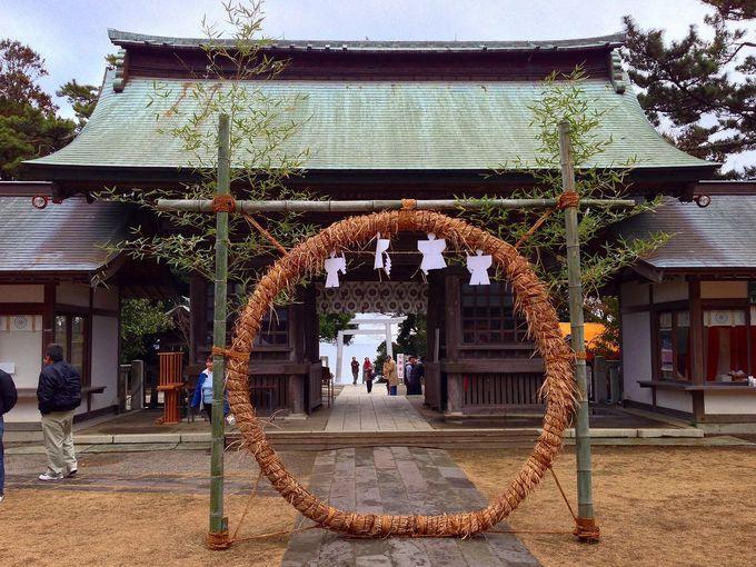 元朝参りも最適。大洗磯前神社まで徒歩2分!