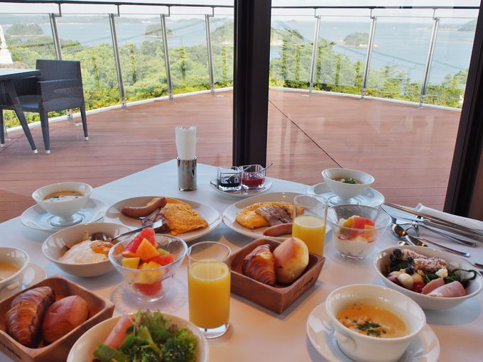 大満足の朝食はゆっくり時間をかけて!