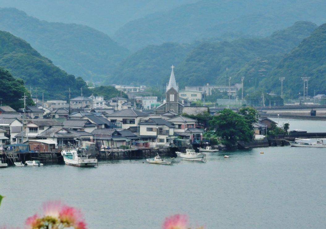 見所5:遠景に見る漁村風景