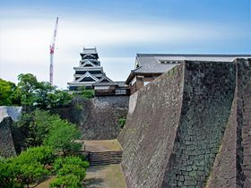 熊本城の現在・地震後「特別公開第2弾」石垣チカッ!空中回廊