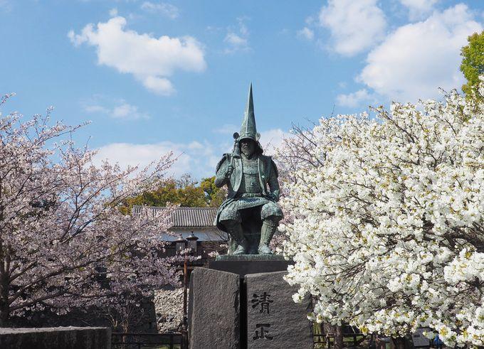 地震後も熊本城を見守る清正公