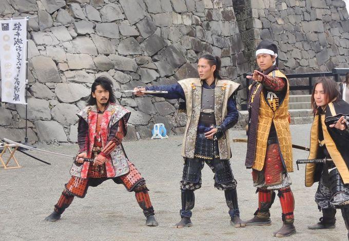 せっかくだから、おもてなし武将隊の演舞をみよう!