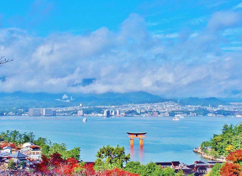 厳島神社や大鳥居が眼下に!宮島、絶景の穴場「平松茶屋」
