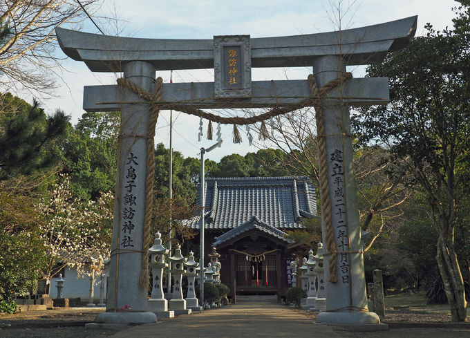 アマビエ石神様も!大島子諏訪神社