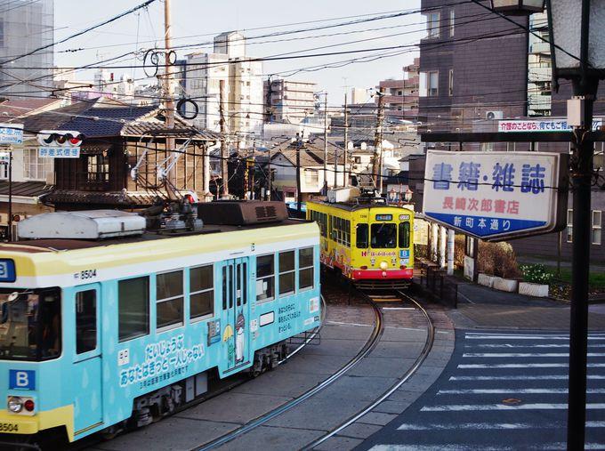 路面電車が通るたびガタゴト響く効果音!その揺れも音も心地よし