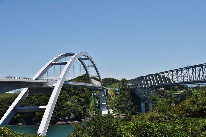 新・旧1号橋を同時撮影可能「天門橋展望所」