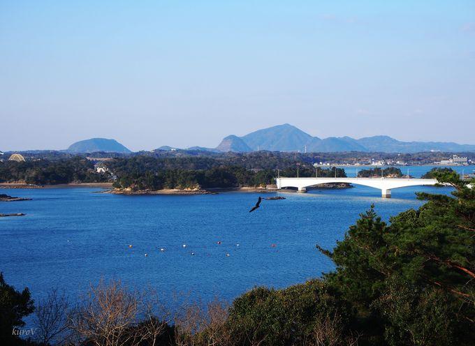 5号橋側「松島展望所」から五橋を見下ろす