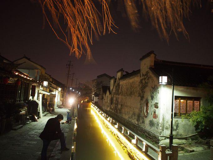 1号店のある「平江歴史文化街区」の夜もいい!