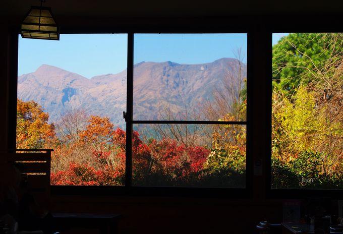 阿蘇の景色とお漬物で待ち時間も充実