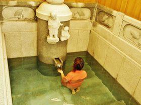 道後温泉別館 飛鳥乃湯泉「特別浴室」!湯帳で皇室の湯体験
