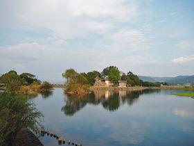 自転車お守りも!熊本「浮島神社」は清き湧水池の中のパワースポット