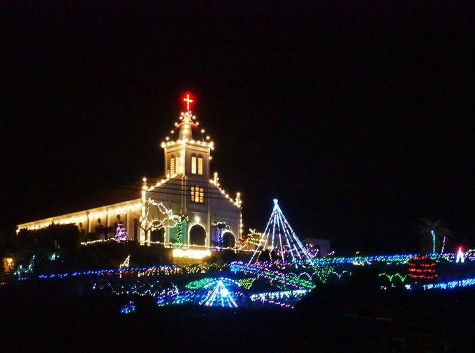 約7万個のイルミネーション!大江天主堂の夜