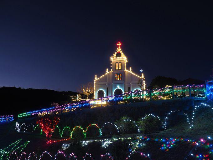 丘の上から静かに見守る!大江教会の灯