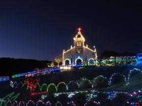熊本の天草イルミネーション!大江教会・崎津教会と島の光が神聖