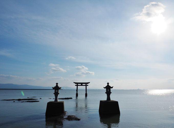 海の鳥居の「永尾剣神社」もここ!