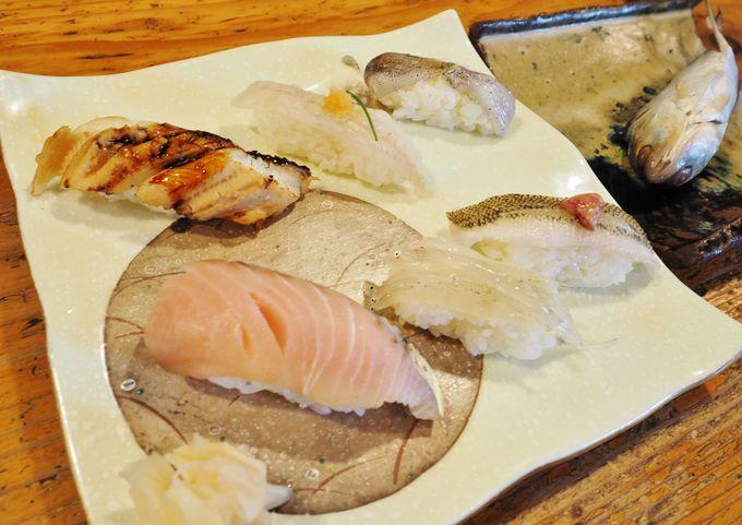 地魚ミミイカや白魚寿司がうまい「錦寿司」