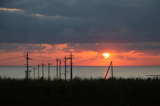 海と夕陽!これぞリゾート