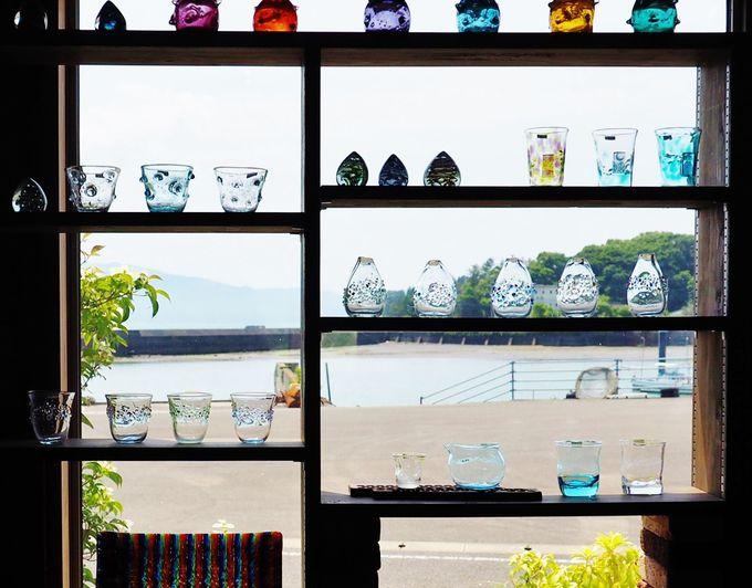 印象的なガラス作品達