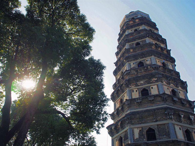 蘇州「虎丘」へは船が楽チン!山塘街から行く東洋のピサの斜塔