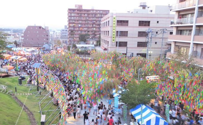全長1.5km!広範囲にわたる竹飾りの競演