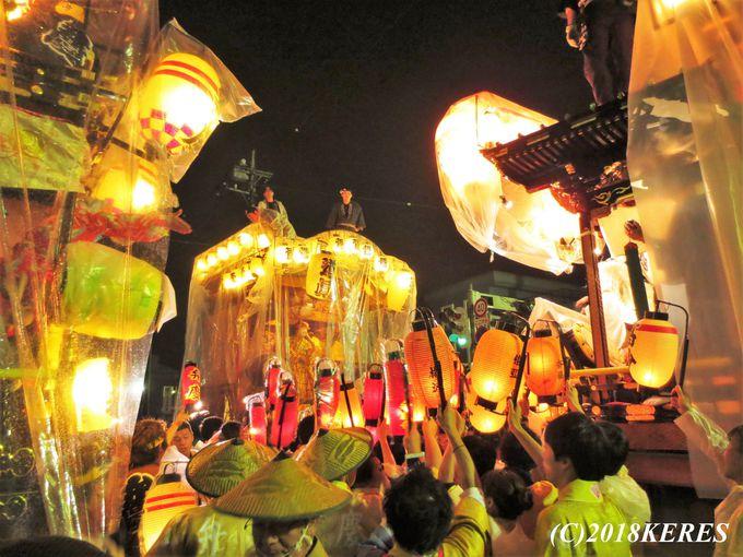 祭りのクライマックス「宵の曳っかわせ」!