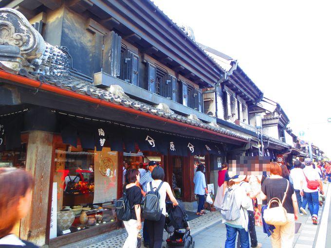 宵の小江戸観光はやはり蔵づくりの町並が続く一番街から