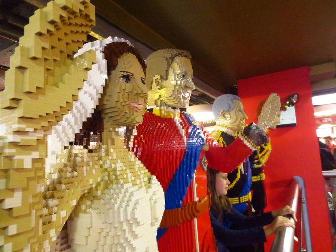 レゴコーナーでは驚嘆の連続!