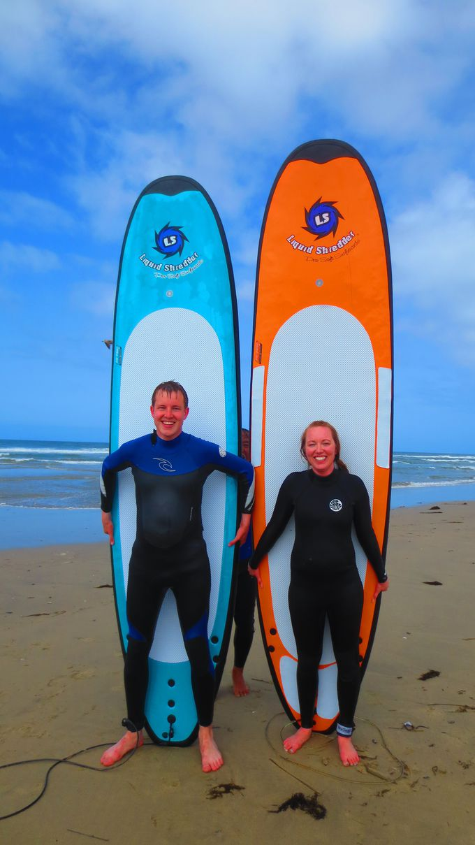 波に乗る楽しさは病みつきになりそう!