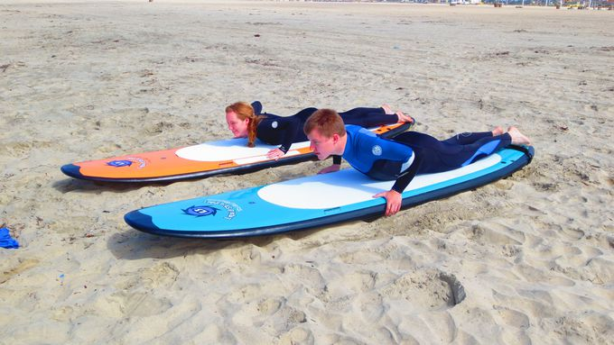 「サーフィン道」、スタートは砂場から!