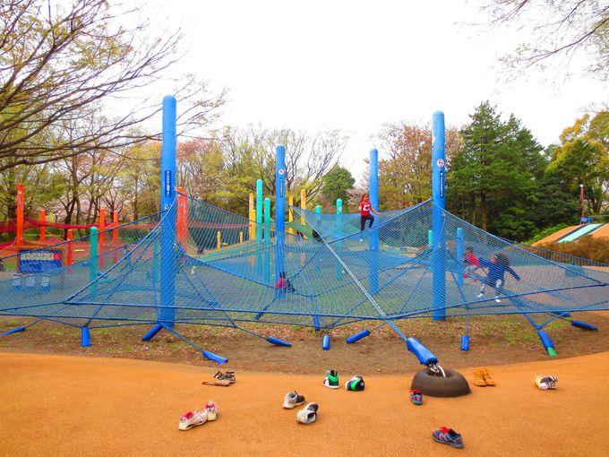 子供達が延々遊び続ける「子供の森」、おススメ(1)「虹のハンモック」