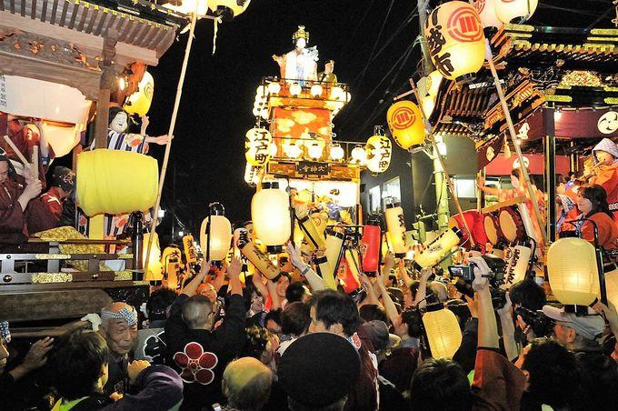 やっぱり祭りのクライマックスは宵の「曳っかわせ」!