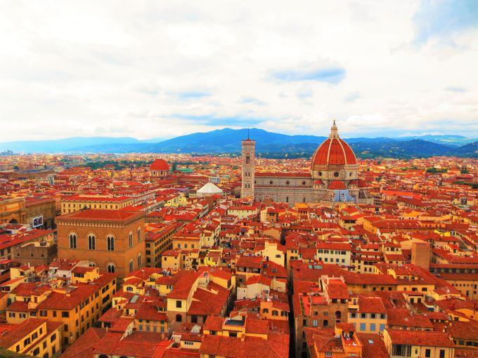 「アルノルフォの塔」から眺めるフィレンツェの景色
