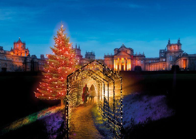 イギリス クリスマスイルミネーション観光は「ブレナム宮殿」が素敵!