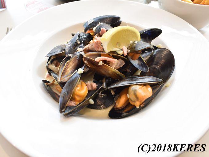 ムール貝も伝統食!ランチがお勧めの「マッセル・イン」