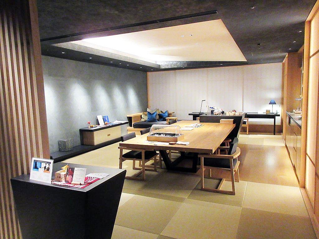 日本旅館のエグゼクティブラウンジ「お茶の間ラウンジ」