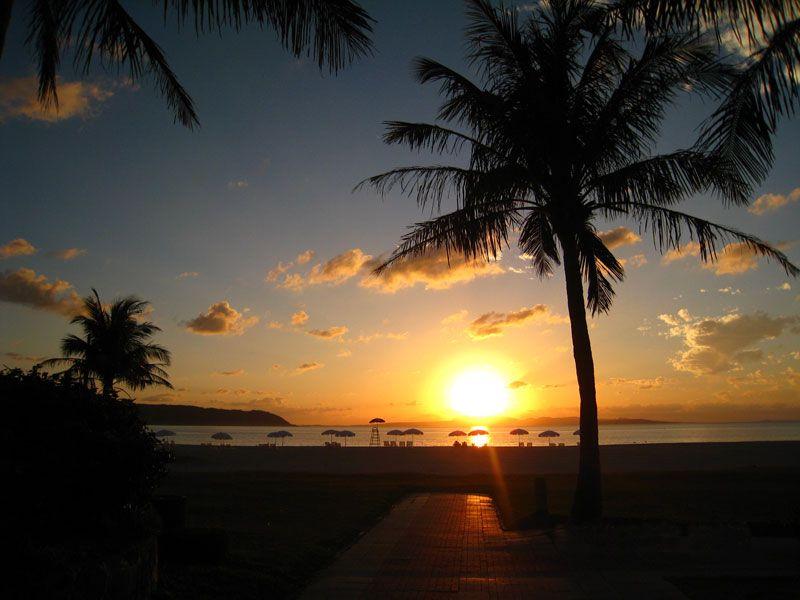 美しい夕焼けにうっとり・・・