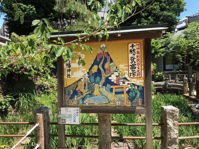 パワースポットと呼ばれている都内最古、千駄ヶ谷の富士塚