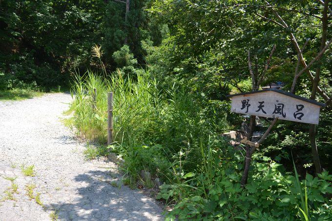 野天風呂へは森の小路を歩いて
