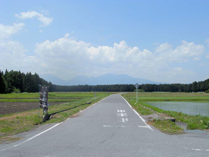 のどかな田園風景の向こう