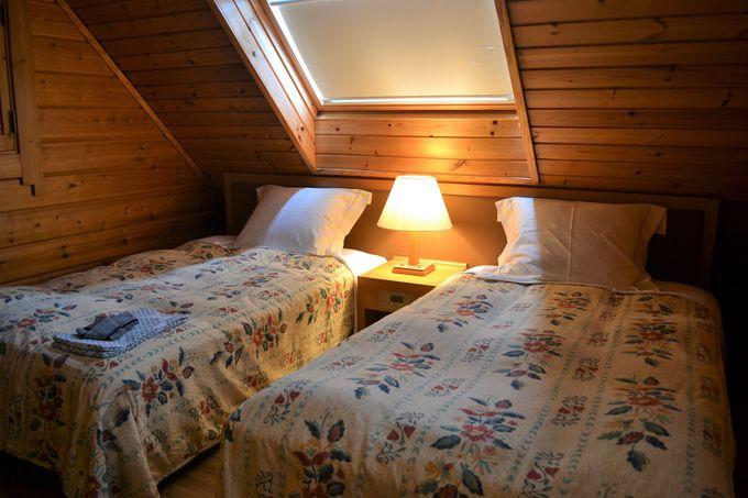 コテージにはベッドルームが3室も